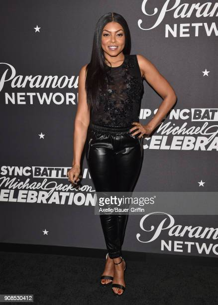 Actress Taraji P Henson arrives at the Lip Sync Battle LIVE A Michael Jackson Celebration at Dolby Theatre on January 18 2018 in Hollywood California