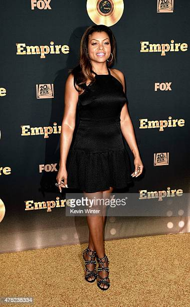 Actress Taraji P Henson arrives at the Television Academy event for Fox Tv's 'Empire' A Performance Under The Stars at The Grove on May 28 2015 in...