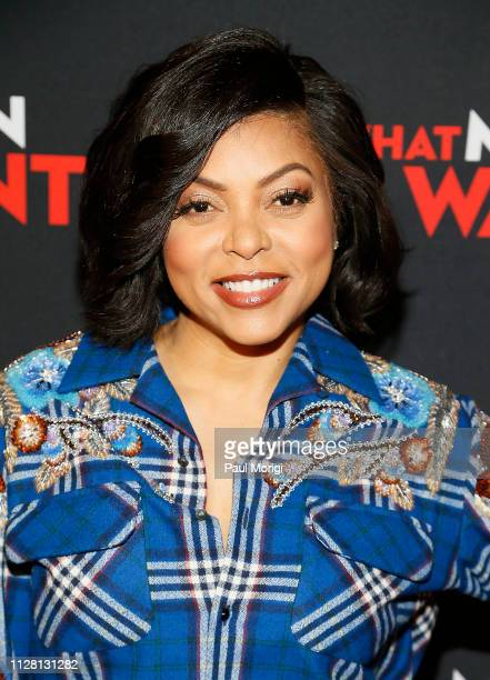 Actress Taraji P Henson arrives at the Washington DC special screening of Paramount Pictures' film 'What Men Want' at the Regal Gallery Place on...