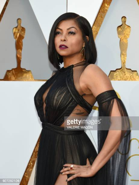 US actress Taraji P Henson arrives for the 90th Annual Academy Awards on March 4 in Hollywood California / AFP PHOTO / VALERIE MACON