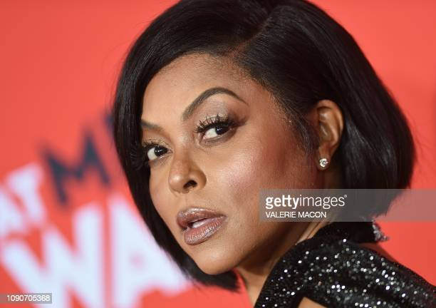 Actress Taraji P Henson arrives for the US premiere of What Men Want at the Regency Village theatre on January 28 2019 in Westwood California