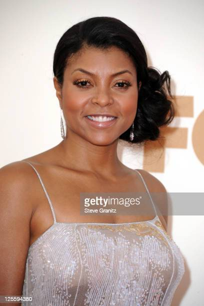 Actress Taraji P Henson arrives to the 63rd Primetime Emmy Awards at the Nokia Theatre LA Live on September 18 2011 in Los Angeles United States