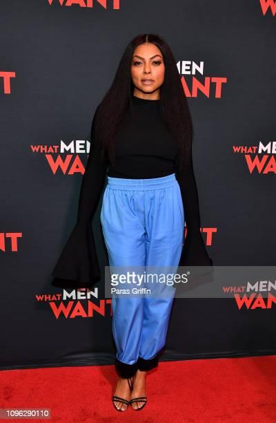 Actress Taraji P Henson attends a special screening of 'What Men Want' at Regal Atlantic Station on January 18 2019 in Atlanta Georgia