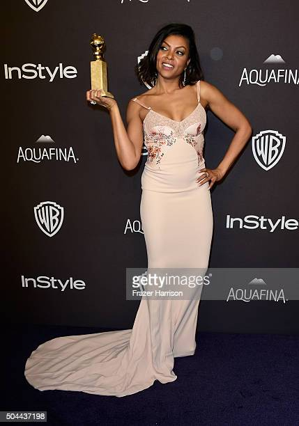 Actress Taraji P Henson attends InStyle and Warner Bros 73rd Annual Golden Globe Awards PostParty at The Beverly Hilton Hotel on January 10 2016 in...