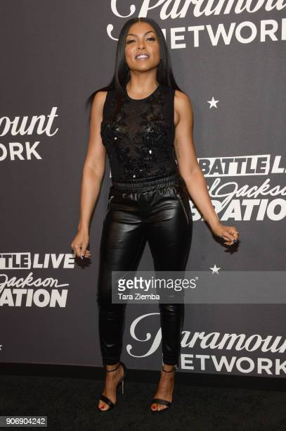 Actress Taraji P Henson attends Lip Sync Battle Live A Michael Jackson Celebration at Dolby Theatre on January 18 2018 in Hollywood California