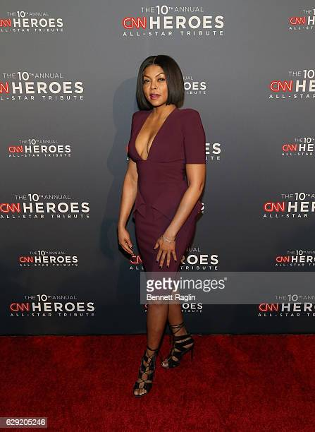Actress Taraji P Henson attends the 10th Anniversary CNN Heroes at American Museum of Natural History on December 11 2016 in New York City
