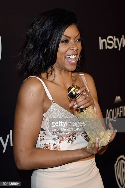 Actress Taraji P. Henson attends The 2016 InStyle And Warner Bros. 73rd Annual Golden Globe Awards Post-Party at The Beverly Hilton Hotel on January...