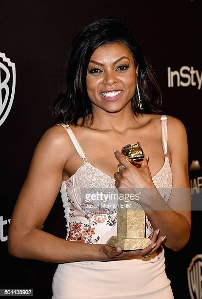Actress Taraji P Henson attends The 2016 InStyle And Warner Bros 73rd Annual Golden Globe Awards PostParty at The Beverly Hilton Hotel on January 10...