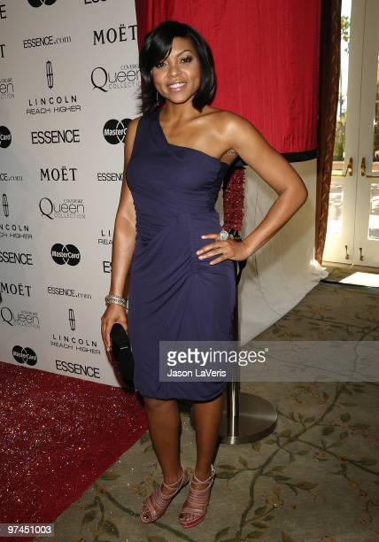 Actress Taraji P Henson attends the 3rd annual Essence Black Women In Hollywood luncheon at Beverly Hills Hotel on March 4 2010 in Beverly Hills...