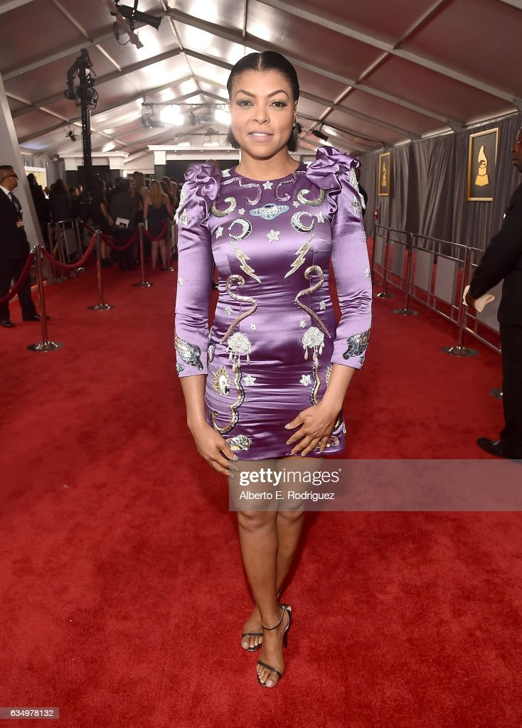 Actress Taraji P. Henson attends The 59th GRAMMY Awards at STAPLES Center on February 12, 2017 in Los Angeles, California.