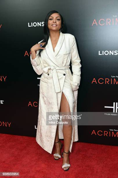 Actress Taraji P Henson attends the Acrimony New York Premiere Taraji P Henson on March 27 2018 in New York City