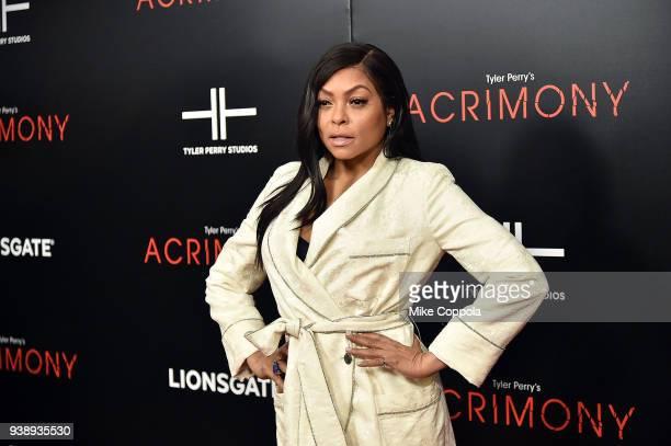 Actress Taraji P Henson attends the Acrimony New York Premiere Taraji P Henson on March 27 2018 in New York City