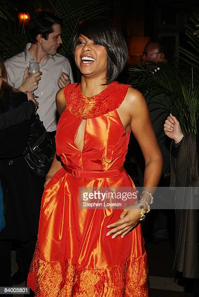 Actress Taraji P Henson attends the after party for The Curious Case of Benjamin Button screening hosted by The Cinema Society Pamella Rolland and...