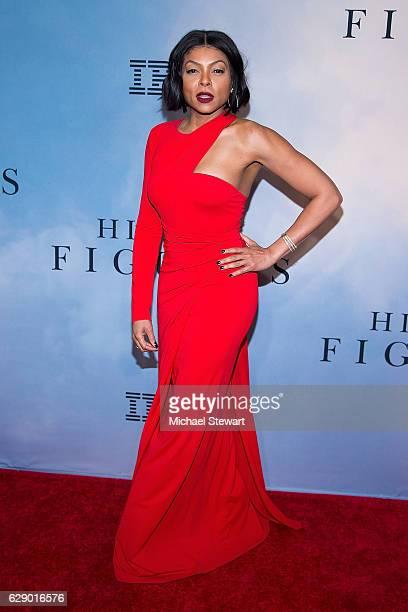 "Actress Taraji P. Henson attends the ""Hidden Figures"" New York special screening on December 10, 2016 in New York City."