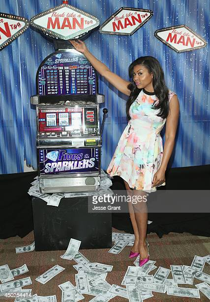 Actress Taraji P Henson attends the Press Junket Photo Call of Sony Pictures' Think Like A Man Too at the Beverly Hilton Hotel on June 7 2014 in...