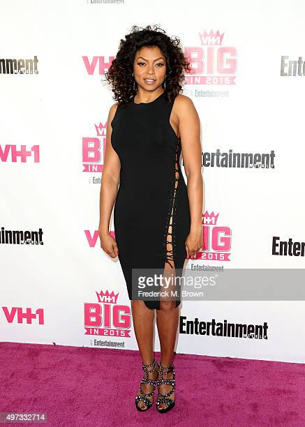 Actress Taraji P Henson attends VH1 Big in 2015 With Entertainment Weekly Awards at Pacific Design Center on November 15 2015 in West Hollywood...