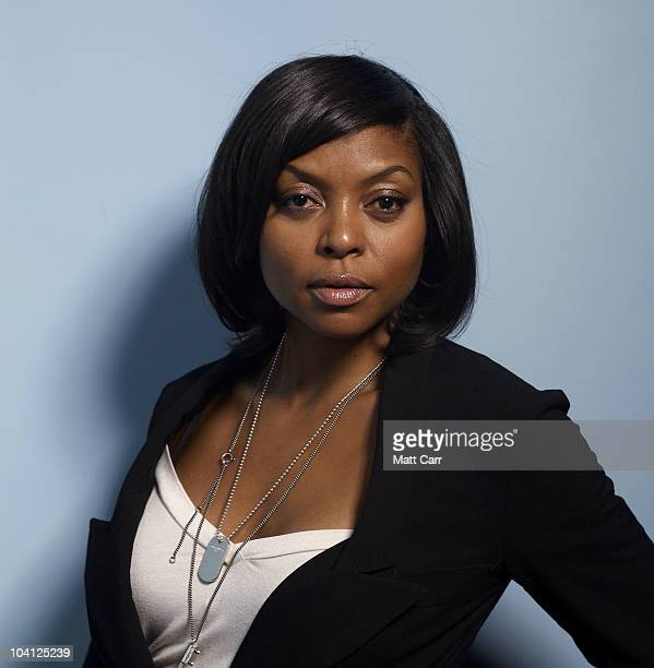 Actress Taraji P Henson from Peep World poses for a portrait during the 2010 Toronto International Film Festival in Guess Portrait Studio at Hyatt...