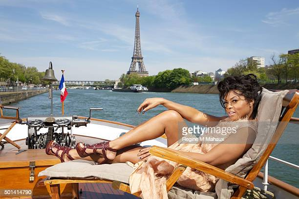 Actress Taraji P Henson is photographed for Self Assignment on April 20 2015 in Paris France