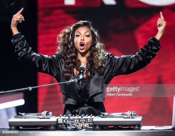 Actress Taraji P Henson performs onstage during Black Girls Rock 2017 at New Jersey Performing Arts Center on August 5 2017 in Newark New Jersey