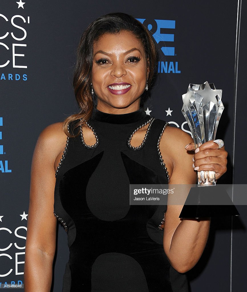 Actress Taraji P. Henson poses in the press room at the 5th annual Critics' Choice Television Awards at The Beverly Hilton Hotel on May 31, 2015 in Beverly Hills, California.