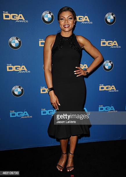 Actress Taraji P Henson poses in the press room at the 67th annual Directors Guild of America Awards at the Hyatt Regency Century Plaza on February 7...