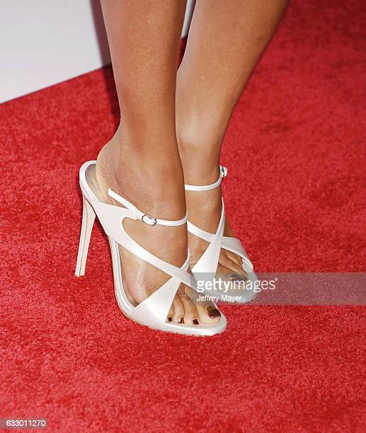 Actress Taraji P. Henson, shoe detail, at the 28th Annual Producers Guild Awards at The Beverly Hilton Hotel on January 28, 2017 in Beverly Hills,...
