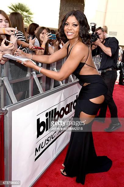 Actress Taraji P Henson signs autographs during the 2015 Billboard Music Awards at MGM Grand Garden Arena on May 17 2015 in Las Vegas Nevada