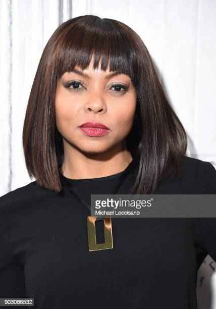 Actress Taraji P Henson visits Build Studio to discuss the movie Proud Mary at Build Studio on January 9 2018 in New York City