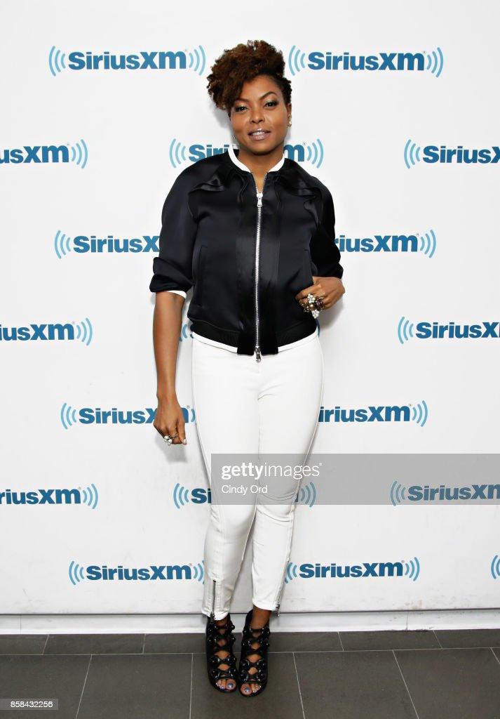 Actress Taraji P. Henson visits the SiriusXM Studios on October 6, 2017 in New York City.