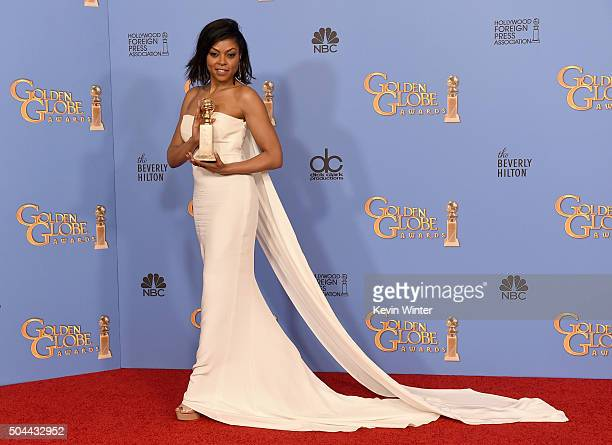 Actress Taraji P Henson winner of Best Performance in a Television Series Drama for 'Empire' poses in the press room during the 73rd Annual Golden...