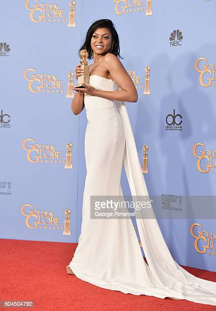 Actress Taraji P Henson winner of the award for Best Performance by an Actress In A Television Series Drama for 'Empire' poses in the press room...
