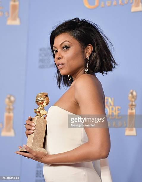 Actress Taraji P. Henson, winner of the award for Best Performance by an Actress In A Television Series - Drama for 'Empire,' poses in the press room...