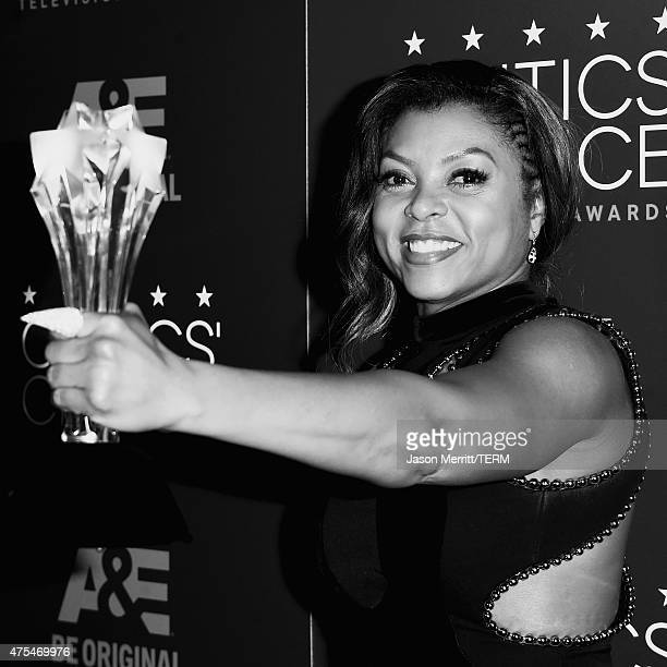Actress Taraji P Henson winner of the Best Actress in a Drama Series award for Empire poses in press room during the 5th Annual Critics' Choice...