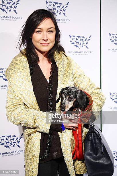 Actress Tarajia Morrell and dog Lola attend The Humane Society of the United States & The Art Institute's Fifth Annual Cool vs. Cruel Awards Ceremomy...