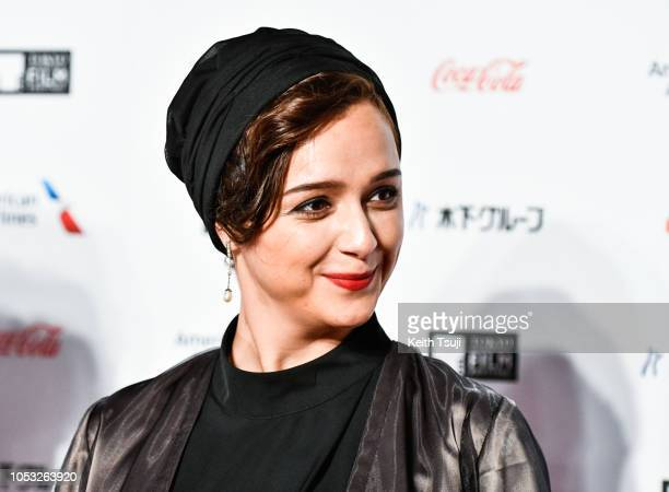 Actress Taraneh Alidoosti attends the opening of the Tokyo International Film Festival 2018 on October 25 2018 in Tokyo Japan
