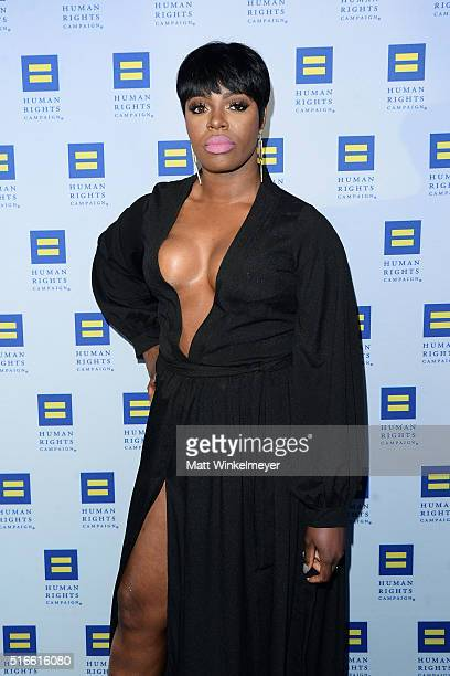 Actress Ta'Rhonda Jones arrives at the Human Rights Campaign 2016 Los Angeles Gala Dinner at JW Marriott Los Angeles at LA LIVE on March 19 2016 in...