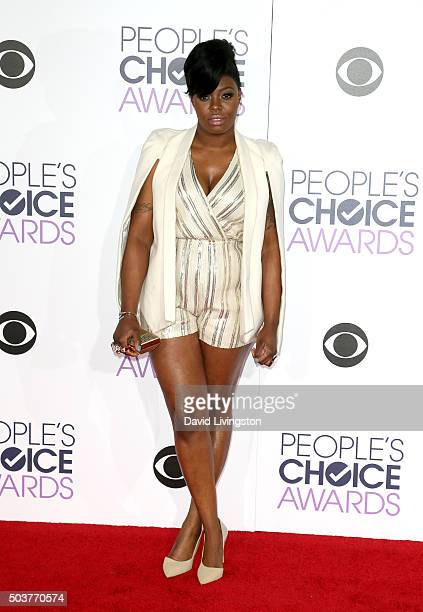 Actress Ta'Rhonda Jones attends the People's Choice Awards 2016 at Microsoft Theater on January 6 2016 in Los Angeles California