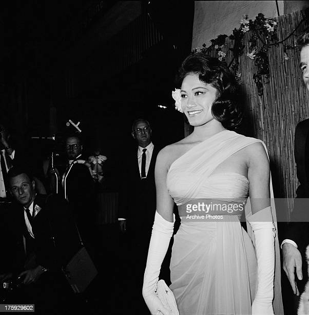 Actress Tarita Teriipia at the premiere of Brando's film 'The Mutiny on the Bounty' USA November 1962 She married costar Marlon Brando that same year
