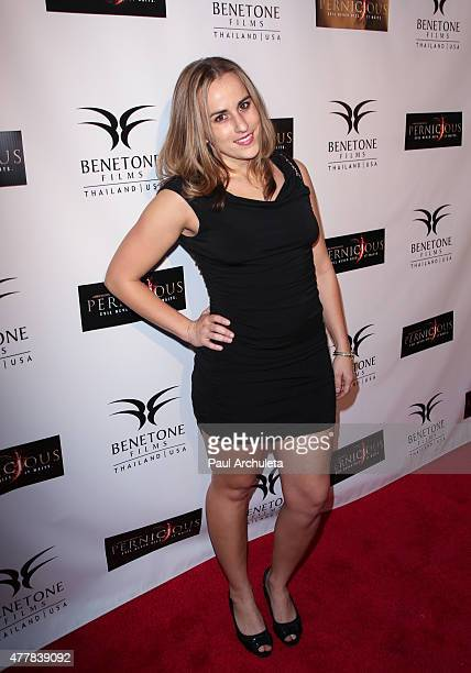 Actress Taryn Hillin attends the premiere Pernicious at Arena Cinema Hollywood on June 19 2015 in Hollywood California