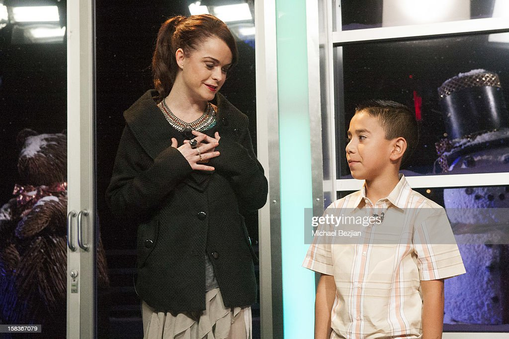 Actress Taryn Manning and Youtube sensation Caine Monroy attend What's Trending Presents The 1st Annual Tube-A-Tweet-A-Thon Benefiting Covenant House on December 13, 2012 in Hollywood, California.