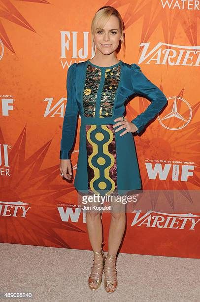 Actress Taryn Manning arrives at the Variety And Women In Film Annual Pre-Emmy Celebration at Gracias Madre on September 18, 2015 in West Hollywood,...