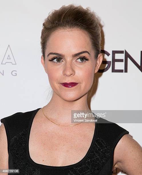 Actress Taryn Manning attends the Genlux Magazine issue release party with cover girl Taryn Manning at Bootsy Bellows on September 27 2014 in West...