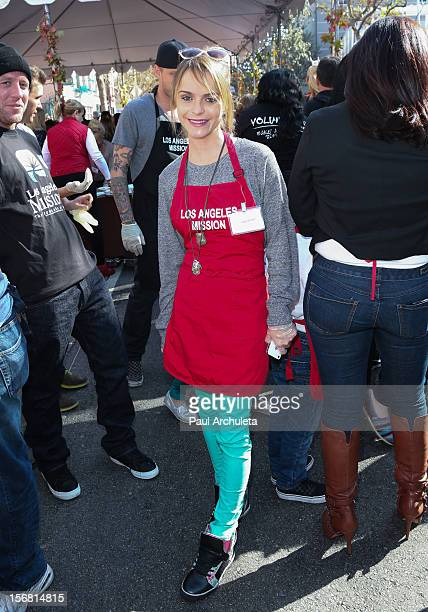 Actress Taryn Manning attends the Los Angeles Mission Thanksgiving Dinner at Los Angeles Mission on November 21 2012 in Los Angeles California
