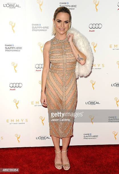 Actress Taryn Manning attends the Television Academy's celebration for the 67th Emmy Award nominees for outstanding performances at Pacific Design...