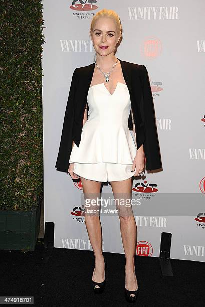 Actress Taryn Manning attends the Vanity Fair Campaign Young Hollywood party at No Vacancy on February 25 2014 in Los Angeles California