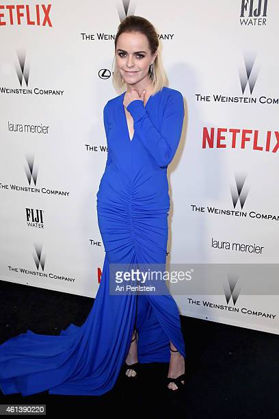 Actress Taryn Manning attends The Weinstein Company Netflix's 2015 Golden Globes After Party presented by FIJI Water Lexus Laura Mercier and Marie...