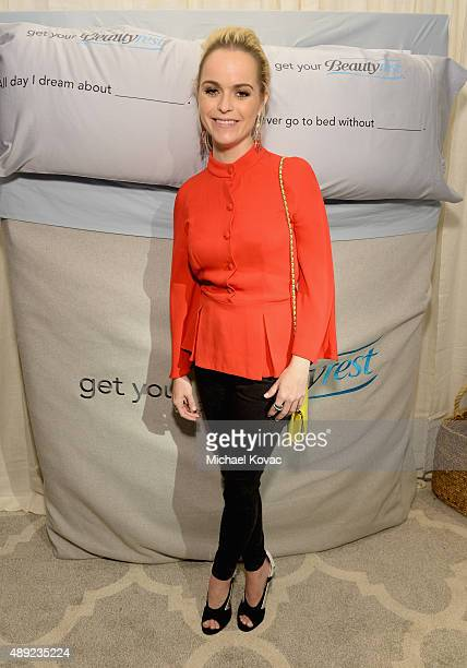 """Actress Taryn Manning got her beauty rest with Beautyrest Mattresses at EXTRA's """"WEEKEND OF   LOUNGE"""" produced by On 3 Productions at The London West..."""
