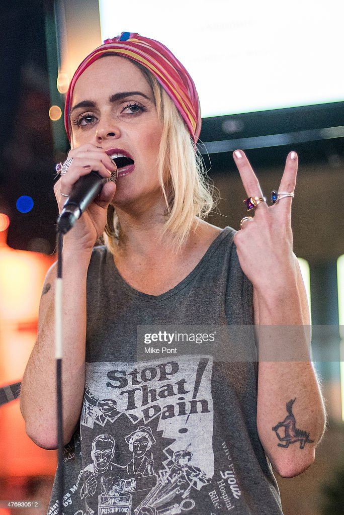 Actress Taryn Manning performs at the 'Orange is the New Black' season 3 premiere party benefiting the Women's Prison Association at The Ainsworth on June 12, 2015 in New York City.