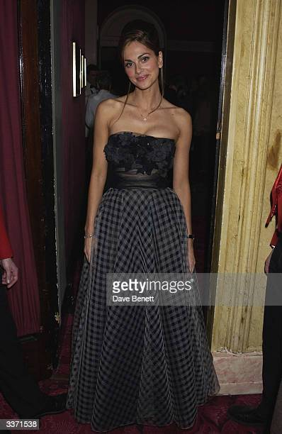 Actress Tasha de Vasconcelos at the UK Neurofibromatosis Association 20th Anniversary Gala Concert held at the Theatre Royal on 12th May 2002 in...