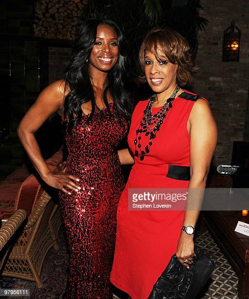 Actress Tasha Smith and Gayle King attend the 'Why Did I Get Married Too' after party on March 22 2010 in New York City